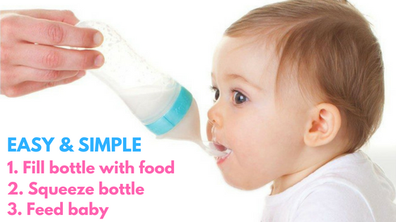 How to use the baby bottle with spoon