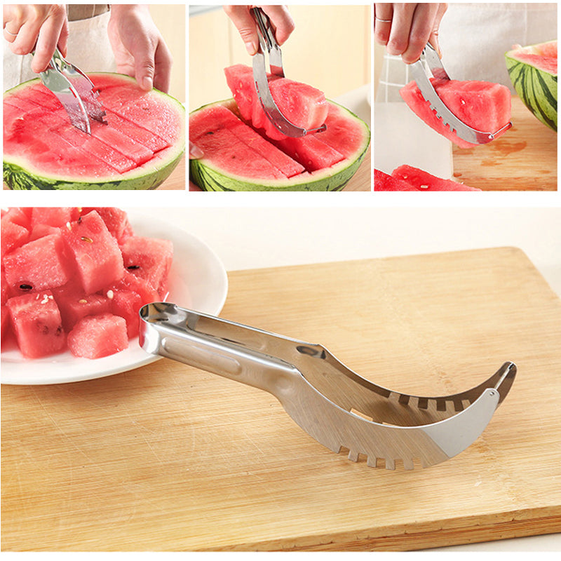 how to use watermelon slicer