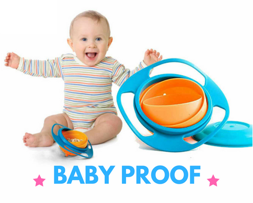 Baby proof non spill bowl