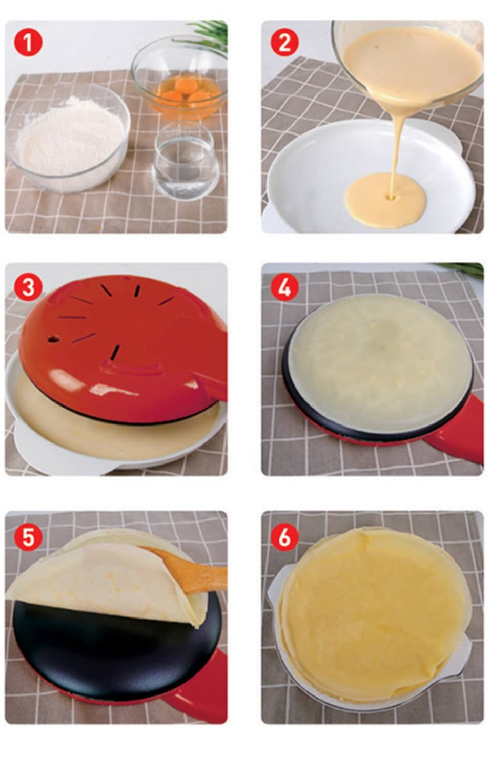 how to use electric crepe maker
