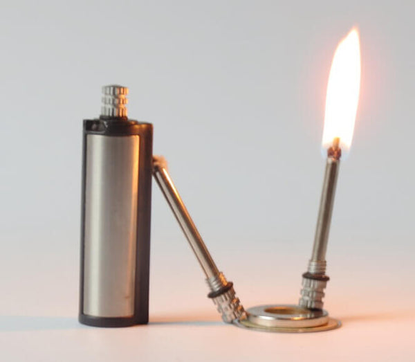match lighter with two matches on fire