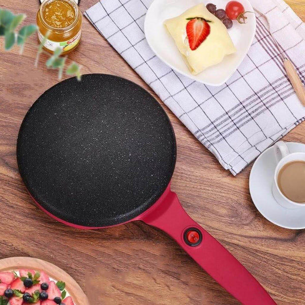 red colored automatic portable crepe maker
