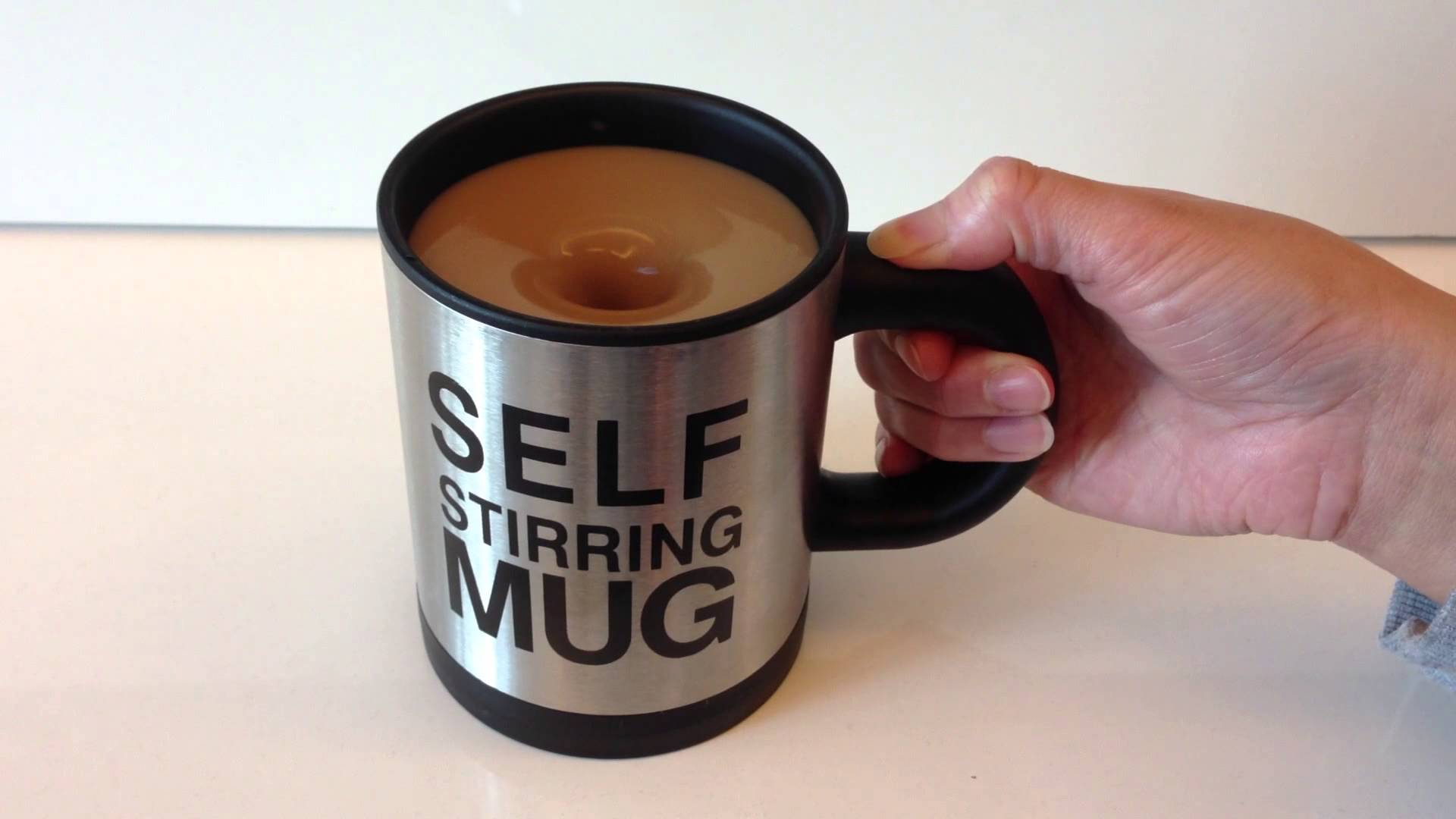 self stir coffee cup