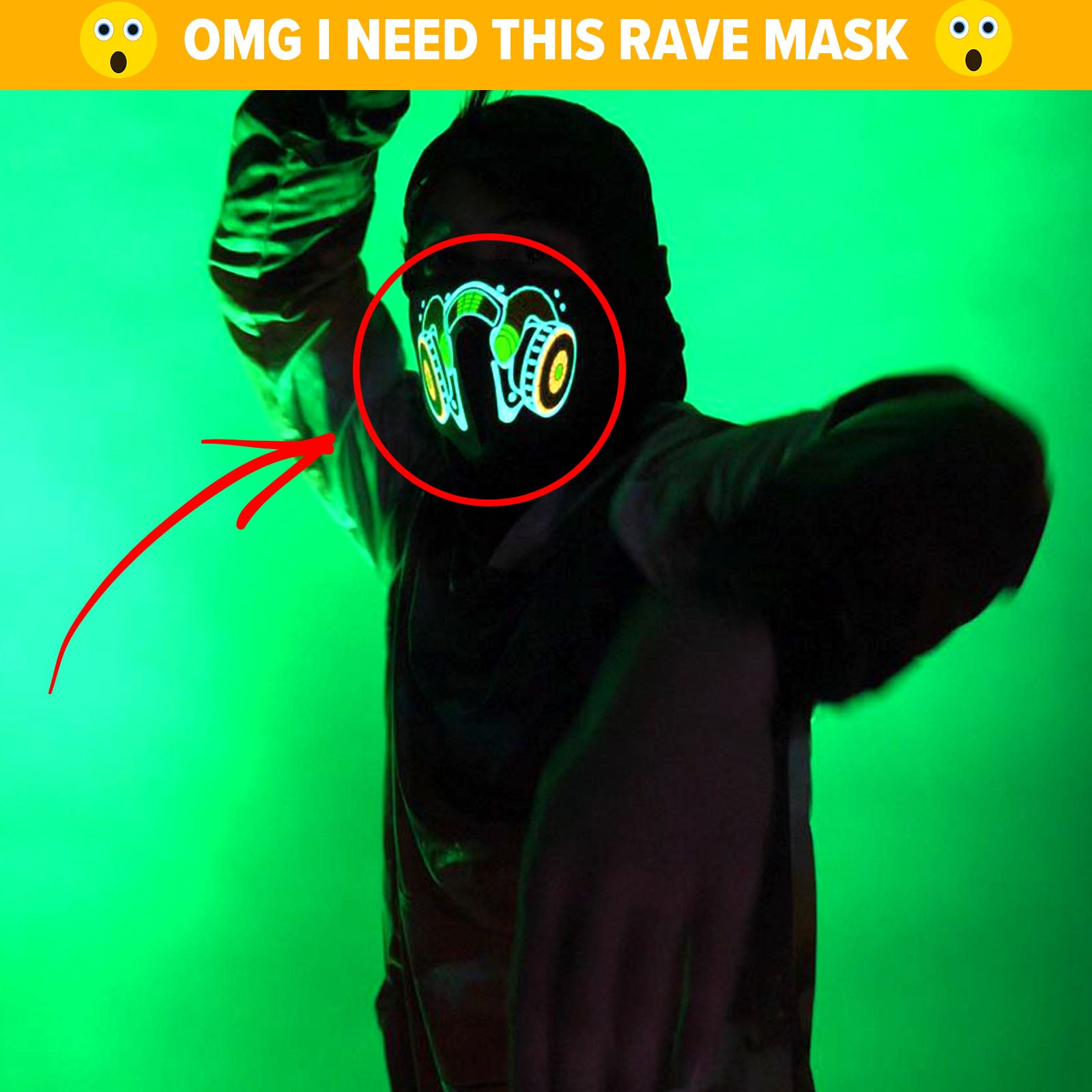 I need this LED Rave Mask