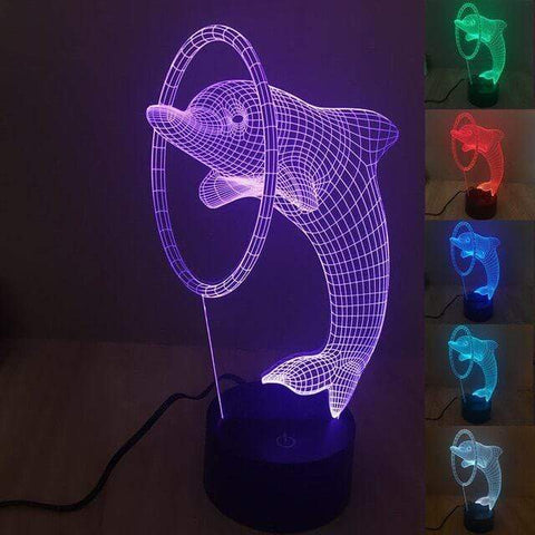 All For Hobbies 3D Dolphin Lamp