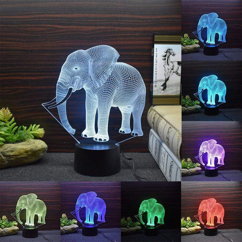 All For Hobbies 3D Elephant Lamp
