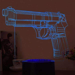 Lighting - 3D LED Pistol Lamp