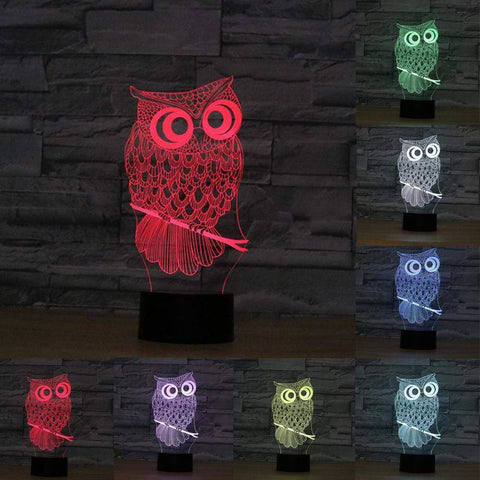 All For Hobbies 3D Owl Lamp