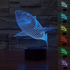 All For Hobbies 3D Shark Lamp