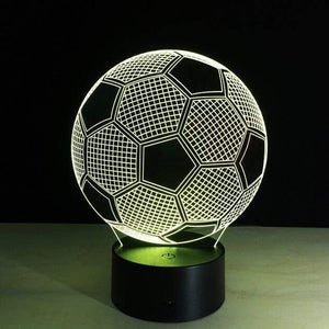 All For Hobbies 3D Soccer Ball Lamp - Optical Illusion