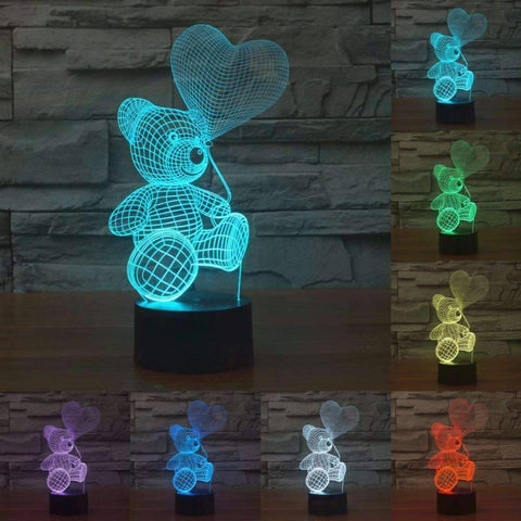 Image of All For Hobbies 3D Teddy Bear Lamp