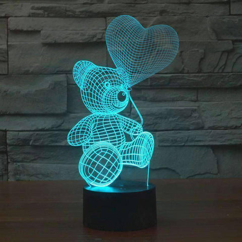 3D Lamp - 3D Teddy Bear Lamp