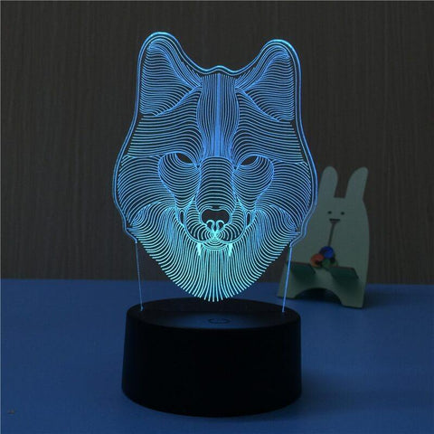 All For Hobbies 3D Wolf Lamp