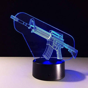 All For Hobbies AR-15 3D AR-15 LED Lamp