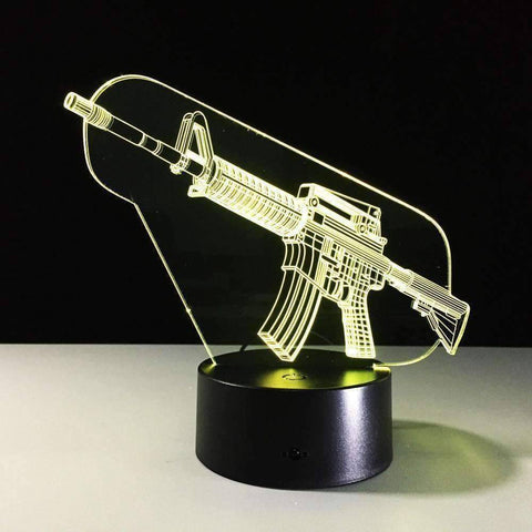 Image of All For Hobbies AR-15 3D AR-15 LED Lamp