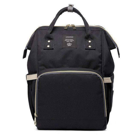Image of All For Hobbies black Baby Diaper Backpack