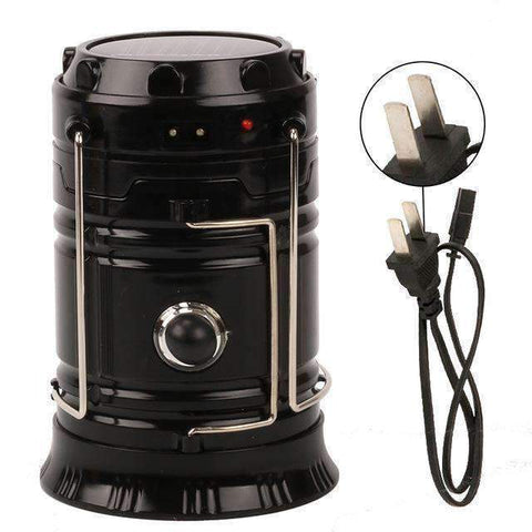Image of All For Hobbies Black Rechargeable LED Camping Lantern