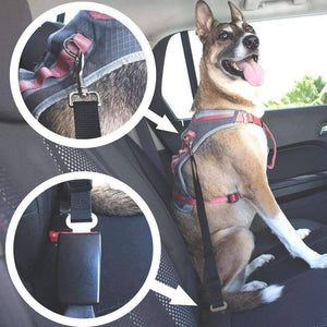 All For Hobbies Black Dog Seat Belt