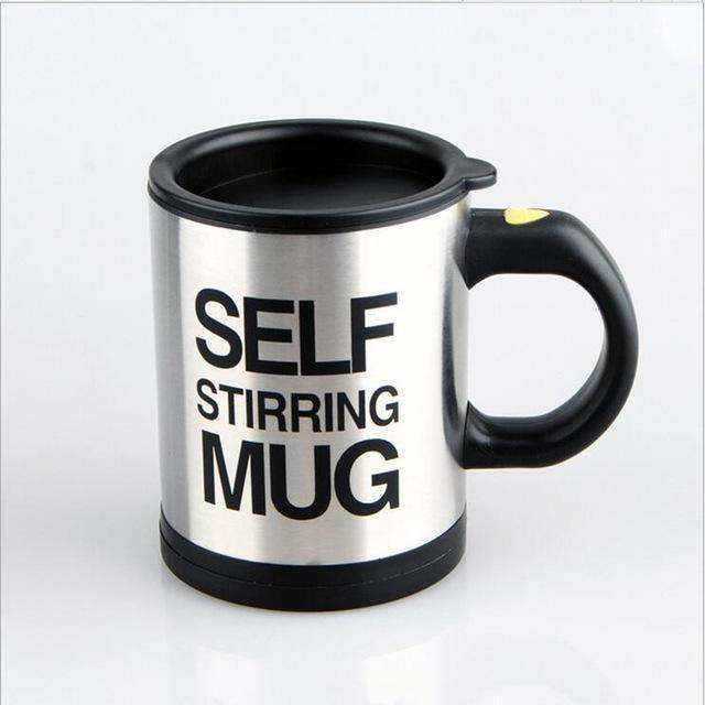black mug self stirring