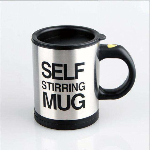 All For Hobbies Black Self Stirring Coffee Mug