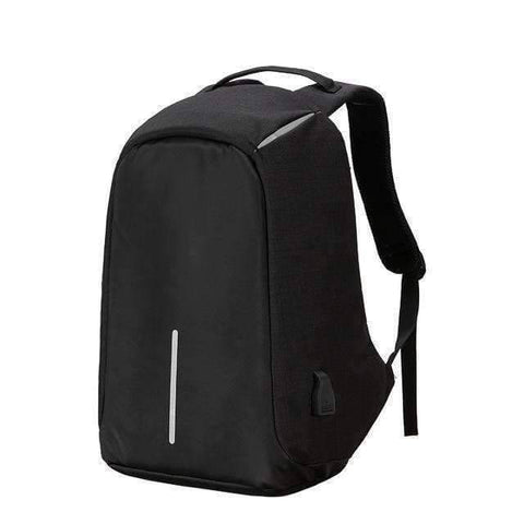 All For Hobbies Black Travel Anti Theft Backpack