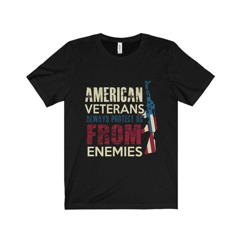 All For Hobbies Black / XS Veteran's Always Protect Us Tee