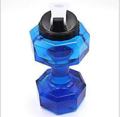 All For Hobbies Blue 2.5L Dumbbell Water Bottle