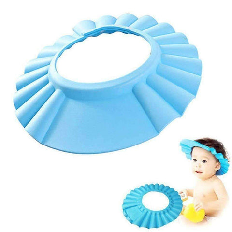 Image of blue kids shower cap
