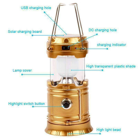 All For Hobbies Rechargeable LED Camping Lantern