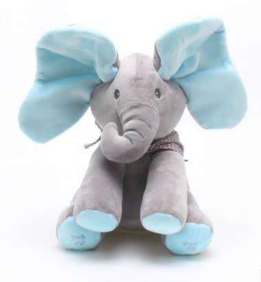 Image of All For Hobbies Blue Peek a Boo Elephant Plush