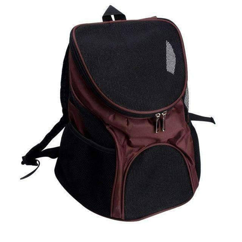 All For Hobbies Brown / One Size Pet Travel Backpack