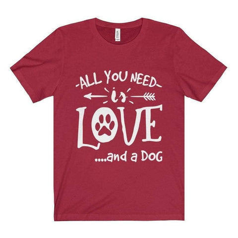 Image of All For Hobbies Canvas Red / XS All You Need Is Love Tee
