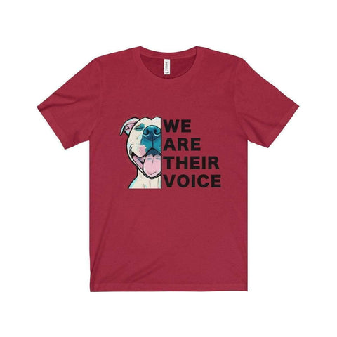 Image of All For Hobbies Canvas Red / XS We Are Their Voice Tee