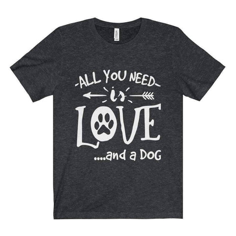 Image of All For Hobbies Dark Grey Heather / XS All You Need Is Love Tee
