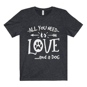 All For Hobbies Dark Grey Heather / XS All You Need Is Love Tee