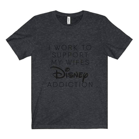 All For Hobbies Dark Grey Heather / XS Wife's Disney Addiction Tee