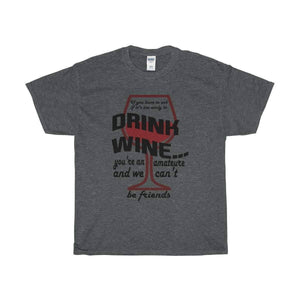 All For Hobbies Dark Heather / S Never Too Early For Wine Tee
