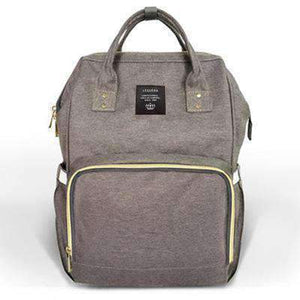 All For Hobbies deep gray Baby Diaper Backpack