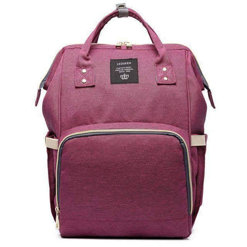 Image of All For Hobbies deep purple Baby Diaper Backpack