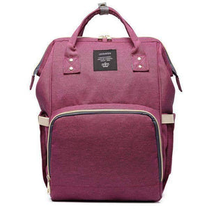 All For Hobbies deep purple Baby Diaper Backpack
