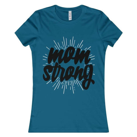 All For Hobbies Deep Teal / S Mom Strong Tee
