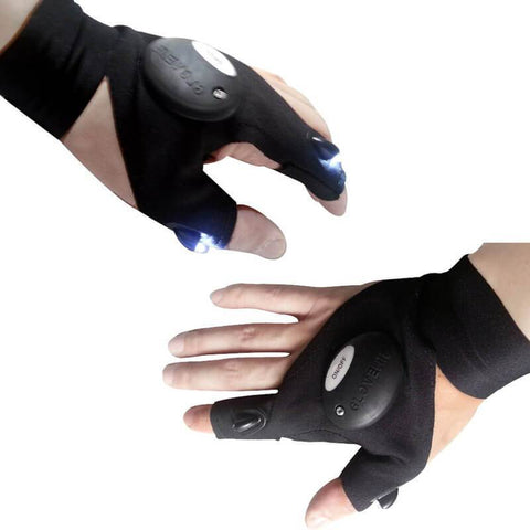 All For Hobbies Fingerless Flashlight Gloves