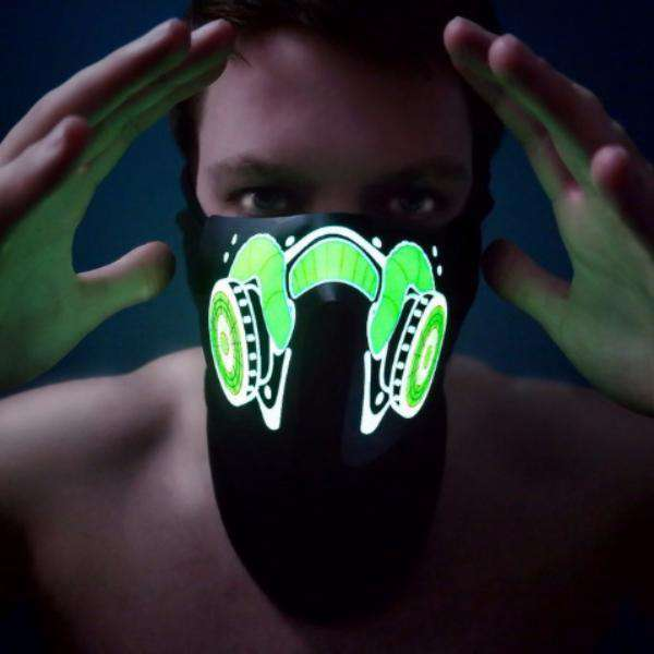 LED gas mask