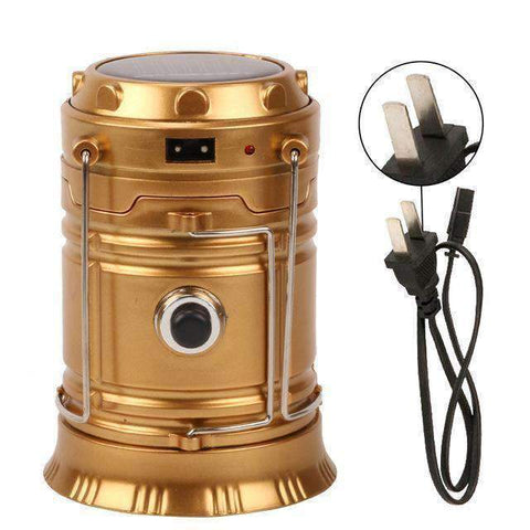 Image of All For Hobbies Gold Rechargeable LED Camping Lantern