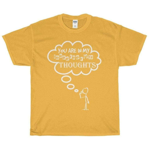 All For Hobbies Gold / S Inappropriate Thoughts Tee
