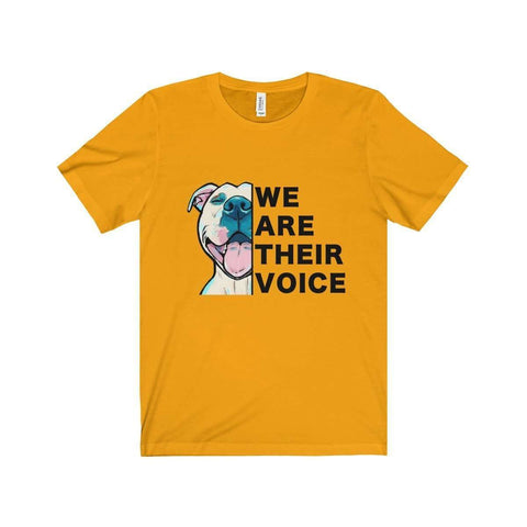 Image of All For Hobbies Gold / XS We Are Their Voice Tee