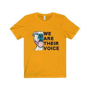 All For Hobbies Gold / XS We Are Their Voice Tee