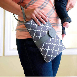 All For Hobbies Gray Diaper Clutch