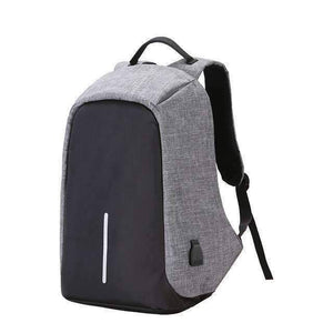 All For Hobbies Gray Travel Anti Theft Backpack