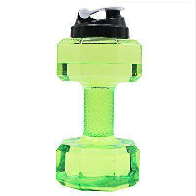 All For Hobbies Green 2.5L Dumbbell Water Bottle